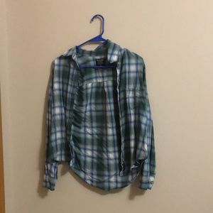 Abercrombie: Plaid (green/blue/white)
